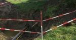 Austritt der 90 m langen Spülbohrung in die Zielgrube