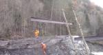 Brücke für Zufahrt Alp Trosgi
