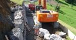 Mauerarbeiten Waldstrasse Dumpfenwald