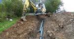 Verlegearbeiten in steilem Gelände